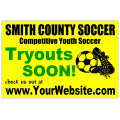 Youth Soccer Tryouts Sign