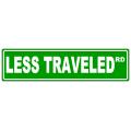 Less Traveled Street Sign