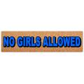 No Girls Street Sign