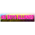 No Boys Street Signs
