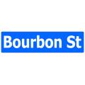 Bourbon St Street Sign
