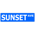 Sunset Ave Street Sign