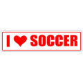 I Love Soccer Street Sign
