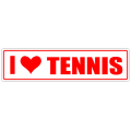 I Love Tennis Street Sign