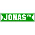 Jonas Street Sign