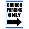 Church Parking Sign 01
