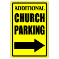 Church Parking Sign 02
