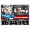 Paint and Body Sign 102