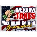 Tax Service Sign 102