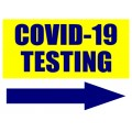Covid 19 Testing Sign with Arrow