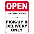 Temporary Hours Sign