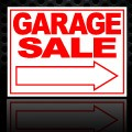 Garage Sale Arrow Sign 18x24