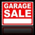 Garage Sale Sign Red 18x24